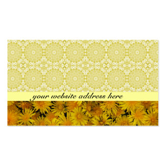 Cheerful Gold Business Cards