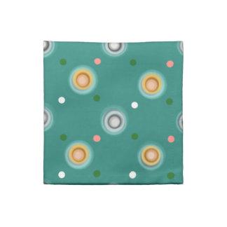 Cheerful Green Polka Dotted Napkin