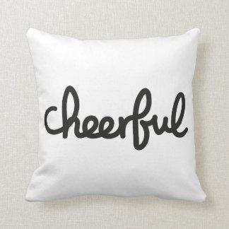 Cheerful handwritten throw pillow