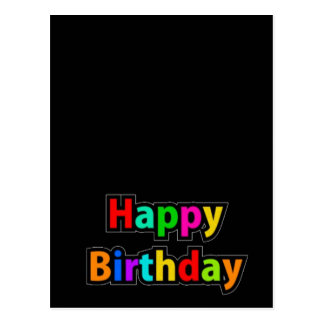 Cheerful Happy Birthday Text Postcard