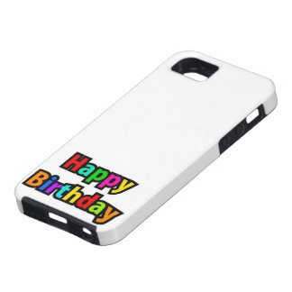 Cheerful Happy Birthday Text Tough iPhone 5 Case