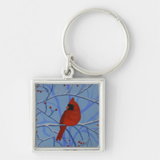 Cheerful heart Cardinal Key Ring