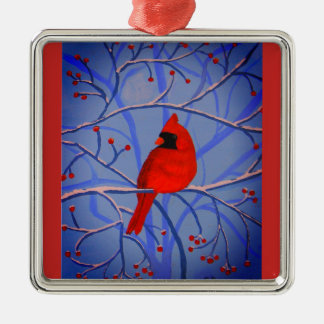 Cheerful heart Cardinal orniment Christmas Ornament