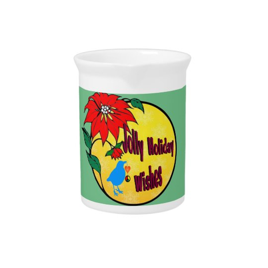 Cheerful Holidays Ceramic Pitcher