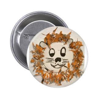 Cheerful Lion 6 Cm Round Badge