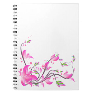 cheerful Lovely Pink Flower decoration guard Notebooks