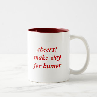 cheerful message for a successful day's start Two-Tone mug