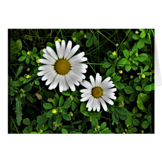 Cheerful Mother and Child Daisies Card