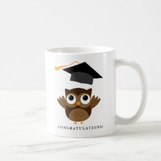 Cheerful Owl Graduate | Class of 2016 Graduation Basic White Mug