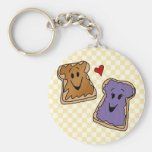 Cheerful Peanut Butter and Jelly Cartoon Friends
