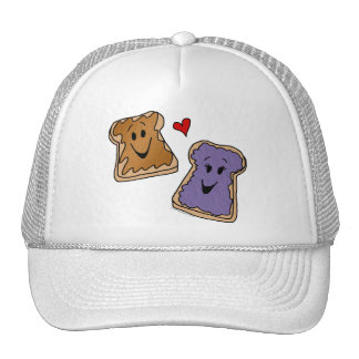 Cheerful Peanut Butter and Jelly Cartoon Friends Cap