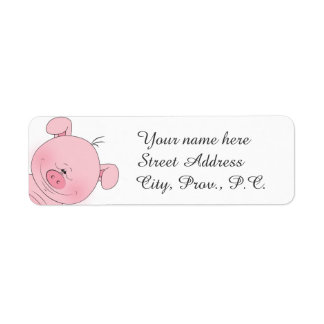 Cheerful Pink Pig Cartoon