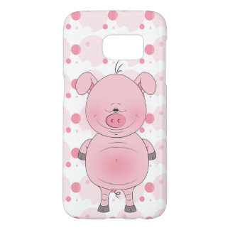 Cheerful Pink Pig Cartoon