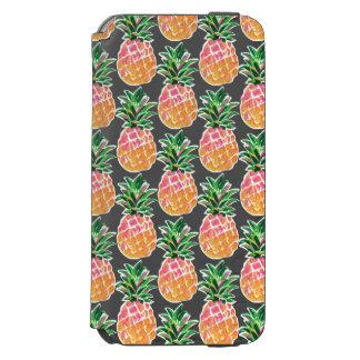Cheerful Pink & Yellow Hawaiian Pineapple Incipio Watson™ iPhone 6 Wallet Case