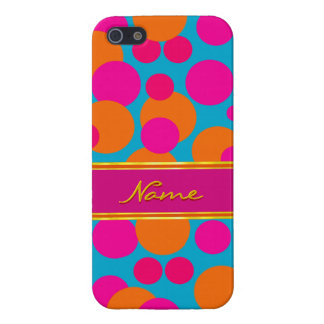 Cheerful Polka Dots iPhone Case in Red / Blue Case For iPhone 5/5S