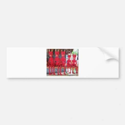 Cheerful Red Little Mexican Devils sitting around Bumper Stickers