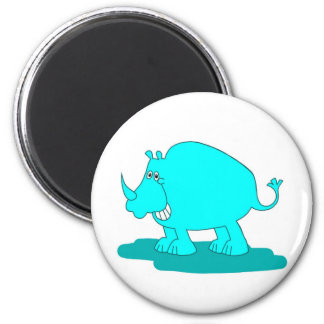 Cheerful Rhino Magnet