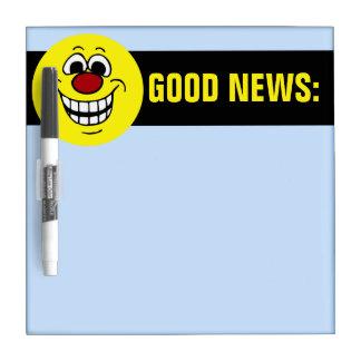 Cheerful Smiley Face Grumpey Dry Erase Board
