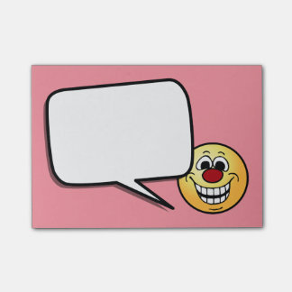 Cheerful Smiley Face Grumpey Post-it® Notes