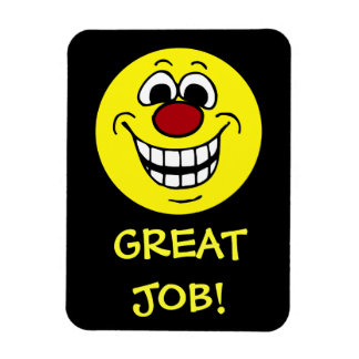 Cheerful Smiley Face Grumpey Rectangular Photo Magnet