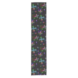Cheerful Snowflake Short Table Runner