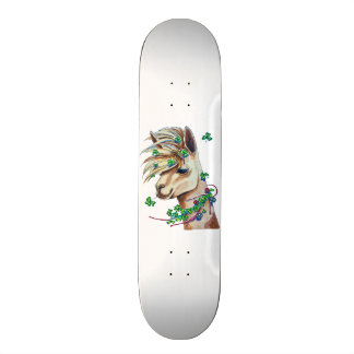 cheerful spring llama 20 cm skateboard deck