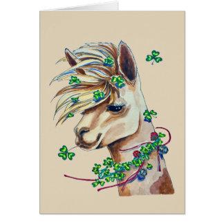 cheerful spring llama card