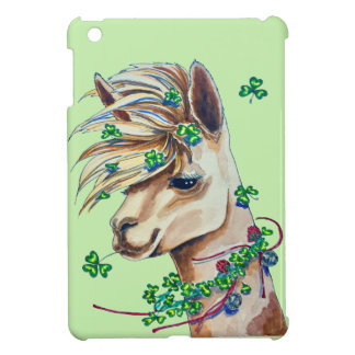 cheerful spring llama iPad mini cases