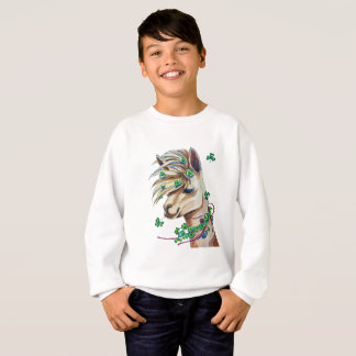 cheerful spring llama sweatshirt