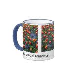 Cheerful Spring Tulips -- Grandma (Customisable) Ringer Mug