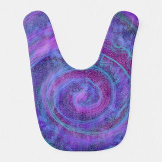 Cheerful Swirl Baby Bib in Purple