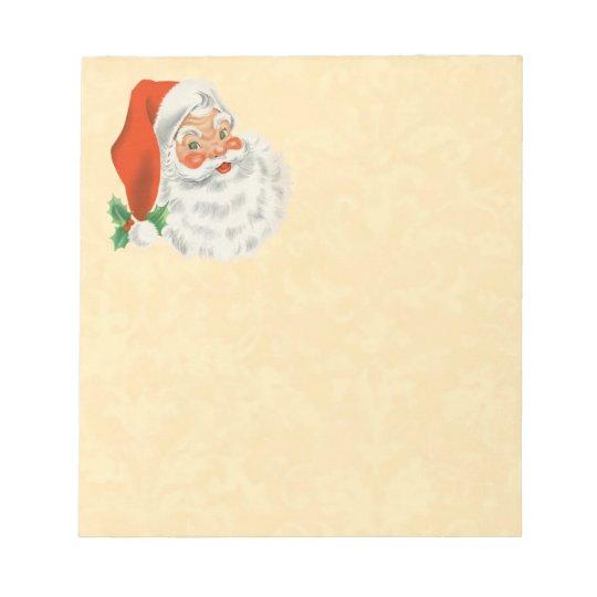 Cheerful Vintage Santa Smiling Z01 Notepad