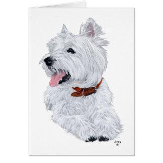 Cheerful West Highland White Terrier Card