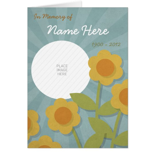 Cheerful yellow flowers Memorial Card / Funeral Pr
