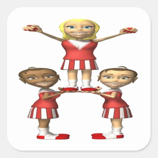Cheering Pyramid Stickers