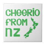 Cheerio from NZ with New Zealand map Tiles