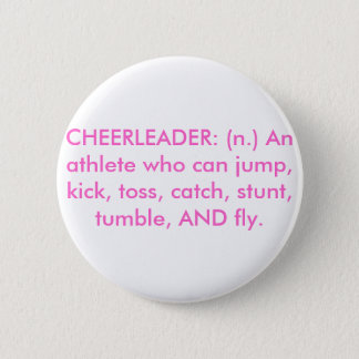 CHEERLEADER 6 CM ROUND BADGE