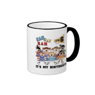 Cheerleader 6th Birthday Tshirts and Gifts Coffee Mugs