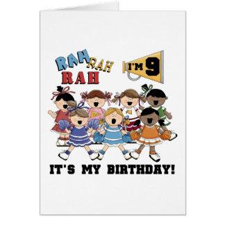 Cheerleader 9th Birthday Tshirts and Gifts Card