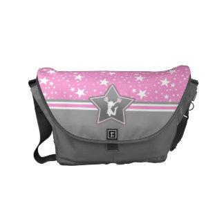 Cheerleader Among the Stars in Pink Messenger Bag