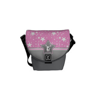 Cheerleader Among the Stars in Pink Messenger Bags