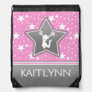 Cheerleader Among the Stars in Pink with YOUR NAME Rucksack