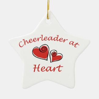 Cheerleader at Heart Ceramic Star Decoration
