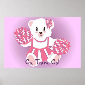 Cheerleader Bear Poster