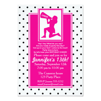 Cheerleader Birthday Invitation Customizable
