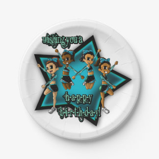 Cheerleader Birthday Paper Plates 7 Inch Paper Plate