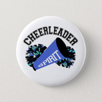 Cheerleader Blue 6 Cm Round Badge