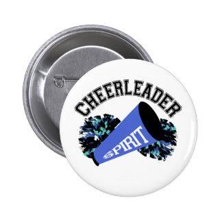 Cheerleader Blue 6 Cm Round Badge