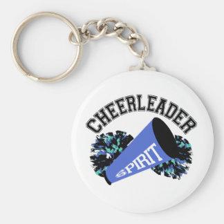 Cheerleader Blue Key Ring