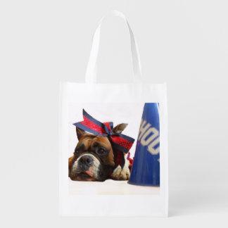 Cheerleader boxer dog